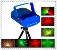Wholesale hot selling Mini Green and Red Moving Party Stage Laser DJ Light Projectors free