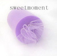 Wholesale Wedding Fabric DIY Craft Y feet x6 cm Lavender Tulle Rolls Spool Favours Upick colors