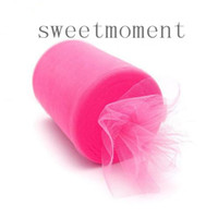 Wholesale 100Yards feet Hot Pink cm Nylon Tulle Roll Spool Home Fabric Craft Upick colours