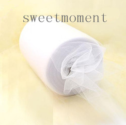 Wholesale 6 quot x100yd White Tulle Rolls Spool Tutu DIY Craft Home Fabric Decorations Upick colours