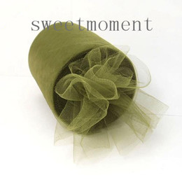 Wholesale 6 x Yards Sage Green TULLE Roll Nylon Spool Tutu Wedding Party Decoration Upick colours