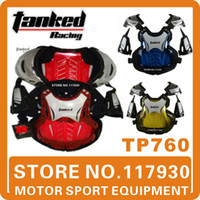 Wholesale 2014 Tanked Racing Motorcycles Motocross Chest amp Back Protector Armour Vest Racing Protective Body Guard Accessories