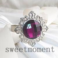 Cheap High Quanlity Gem Stone 100pieces Grape Napkin Rings for Wedding Shower Christmas Favours,23colours