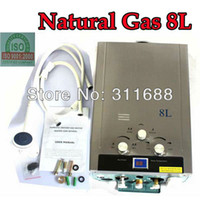Wholesale 8L Natural GAS Stainless LCD Display Boiler Propane Tankless Hot Water Heater KW