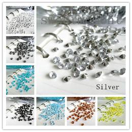 Wholesale 1000pcs set Top Faux acrylic Wedding Party Table Scatter Decorations Silver C mm Diamond Confetti Wedding Favor Favours Supplies