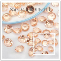 Wholesale 500pieces set Peach Faux acrylic Beads mm CT Diamond Confetti Wedding Xmas Favors Decorations Table Scatter Supplies