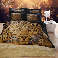 Cheap FREE SHIPPING 3D OIL PRINTED PAINTING BLACK TIGER BEDDING SET ANIMALS BED CLOTHES QUEEN COMFORTER DUVET COVER BEDSHEET SALE