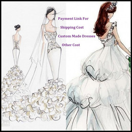 Wholesale Payment Link for Plus Size Rush Order Fee Urgently Custom Made Fee Extra Shipping Fee of Bridal Wedding Dresses Special Occasion Dress