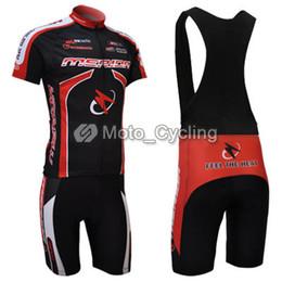 2011 MERIDA Red Black Short Sleeve Cycling Jersey + Black Bib Short