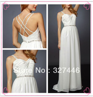 Cheap Fast Shipping 2014 Sexy New Dreamy Beauty Beach Boho Style Wedding Dresses Bridal Gowns Robe De Mariage Beads Spaghetti Straps
