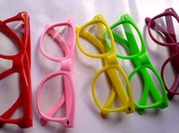retro style sunglasses - 500pairs Retro Color Unisex Punk Style Clear Lens Glasses Sunglasses J120