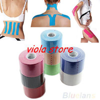 Wholesale 5m x cm Kinesiology Sports Muscles Care Elastic Physio Therapeutic Tape Roll