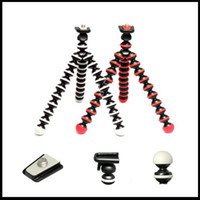 Cheap Free shipping small size mini universal bracket phone holder + Octopus flexible tripod stands for mobile phone