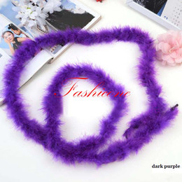 50pcs lot 2 meter Miltiple Colors Marabou Feather Boa Feather Strip for Wedding Party Festival