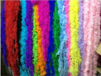 Wholesale 10pcs meter Feather Strip Wedding Marabou Feather Boa