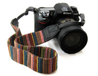 Wholesale Wear resistant high elasticity Colorful Forest pinstripe Soft high quality SLR camera strap