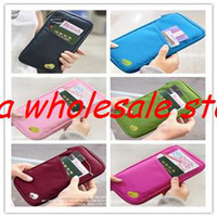 Wholesale Passport Holder Organizer Wallet multifunctional document package candy travel wallet portable purse business card holder