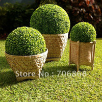 Wholesale 55cm diameter artificial plastic boxwood ball grass ball ANTI UV for indoor amp outdoor decoration