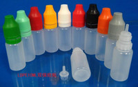 Wholesale 2500pcs ml childproof amp tamper proof cap drop bottle by DHL plastic bottle