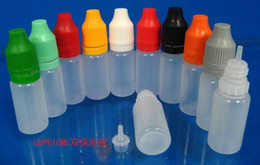 Dropper Bottle 2500PCS 10ml Childproof & Tamper Proof Cap Long Thin Tip plastic bottle used to dispense most liquid