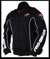 Wholesale Cool Pro Biker Black Armor Jacket Motorcycle Racing Jacket Size M L XL XXL New