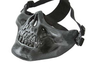 face shield - PVC Skull Skeleton CS Mask Shield Face Protective For Airsoft Hunting War Games Battlefield