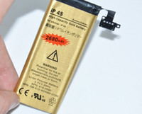 For Apple iPhone iphone4s cell phone - New High capacity Battery For iphone iphone4S Gold battery V mAh for iphone4S cell phone batteries Factoryworld
