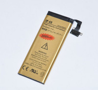 Wholesale New amp High Capacity replacement battery for iphone4S Gold battery Li ion Battery V mAh SG POST
