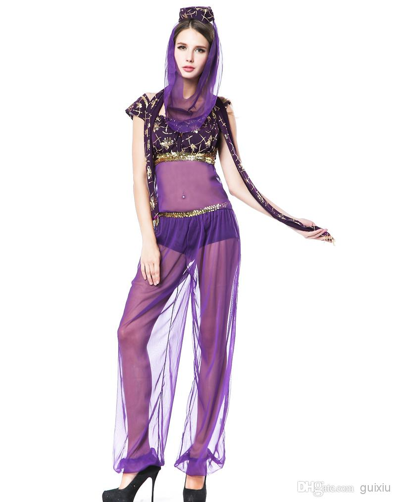 Cosplay Sexy Adult Costumes For Women Genie Dance Wear Dress ...