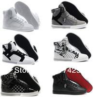 Cheap New 2013 August Women's Hip-hop Skate High Top Shoes,men`s Skateboard Shoes Flats Men's Sneakers Blue Flag Big size EUR 36-47