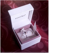 Wholesale The Original Pandora Ear Ring and Diamond Ring Gift Box Pandora Necklace Bracelet Box Pandora White and Black Jewelry Box