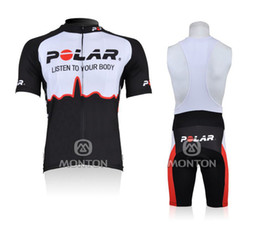 2010 POLAR WhiteBlack Short Sleeve Cycling Jersey + Bib Short SIZE XS-4XL