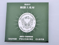 Wholesale Flannelette Silver cleaning cloth silver polishing cloth Jewlery Cleaning Cloths x8 CM