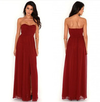 Wholesale Sexy Tube dress Evening dress Red Beach dress Maxi dresses