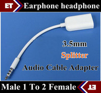 Wholesale SGpost mm Earphone headphone Male To Female Y Splitter Audio Cable Adapter Jack JB1