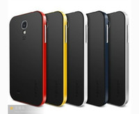 Wholesale SPIGEN SGP NEO HYBRID Series bumblebee Slim Case TPU PC Frame bumper Cover for Samsung Galaxy S4 SIV I9500 Freeship
