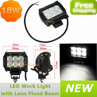 Best 4x Car Cree led Work light 6x3W 4x4 led Off-road driving light Dual row 4WD UTV 12V 24V Pickup SUV Camper Wagon 18W Vehicle