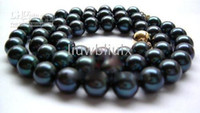 Wholesale TAHITI BLACK MM AAA AKOYA PEARLS NECKLACE INCHES K