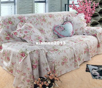 Wholesale the whole rustic cotton fabric three sofa cover set full cm cm