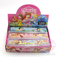 Wholesale Snow White Cartoon Plastic Office Rulers Novelty Stationery Christmas School Gift Ruler