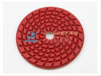 Wholesale 4DS6 quot Spiral Type Harden wet Arc Polishing Pads Use for hard stone or concrete ground polishing10Pcs