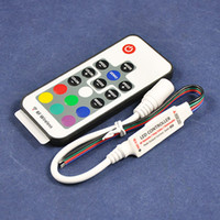 Wholesale mini led rgb strip light controller V W A mini rgb led controller with RF remote DC socket for power supply