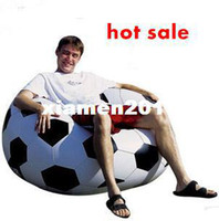 Wholesale football PVC Inflatable Sofa one seat living Room Furniture lounge lazy sofa novelty sofa