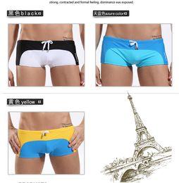 Wholesale 2014 Men s Shorts Swimwear amp Beachwear Black Yellow Blue Shorts Boxer Secret Swimsuits For Men AMY02