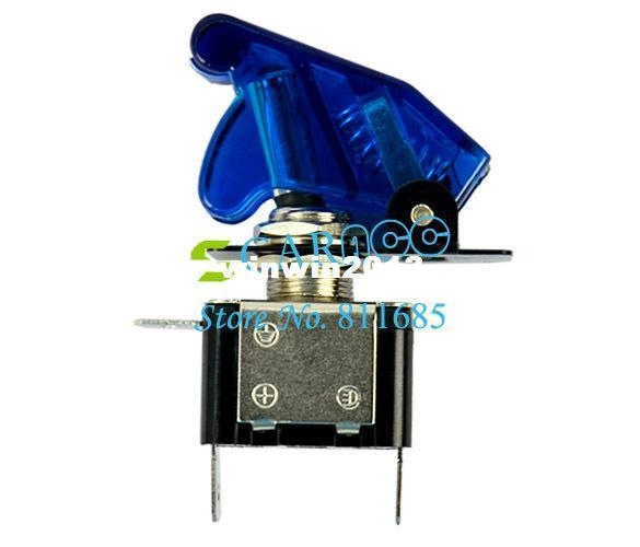 Wholesale - New hot selling 10pcs Car Auto Cover LED SPST Toggle Switch Control On/Off 12V 20A Blue TK_CB109
