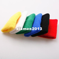 Wholesale Small size wrist support Sports Band Wristband Wrist Support Protector Sweatband Basketball Tennis Volleyball Badminton COlor