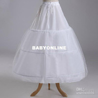 Wholesale A Line bridal gowns petticoat underskirt and little girls pageant dress crinoline