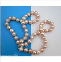 Wholesale 24INC MM AUSTRALIAN SOUTH SEA BAROQUEH pink PEARL NECKLACE K