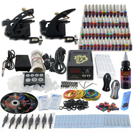 Wholesale Complete Tattoo Kit Pro Machine Guns Inks Power Supply Needle Grips TK251