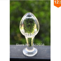 Wholesale Big large head ball Sheer Crystal glass Dildos Anal butt plug Sex toys for women men couples Adult products Female masturbation